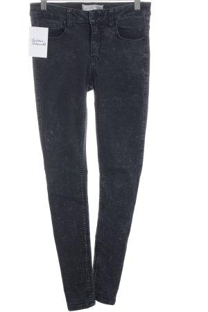 Pieces Skinny Jeans schwarz-dunkelgrau Street-Fashion-Look