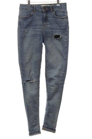 Pieces Skinny Jeans stahlblau Casual-Look