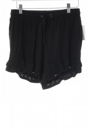 Pieces Sportshorts schwarz Casual-Look