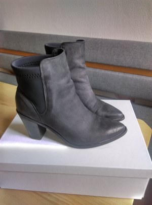 Pieces Booties anthracite