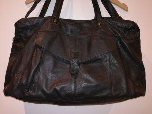 Pieces Shopper black leather