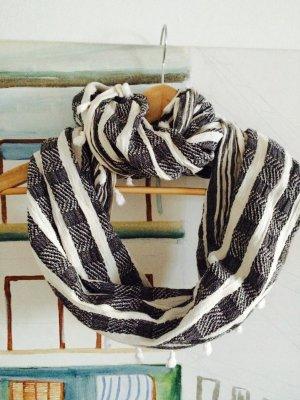 Pieces Foulard nero-bianco