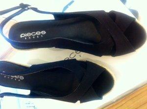 PIECES Wedge * Keilabsatz Sandale Bast * NEU 40