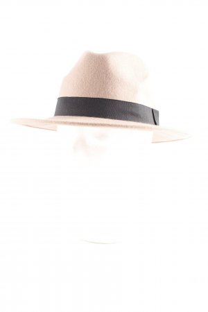 Pieces Cappello di lana beige-nero