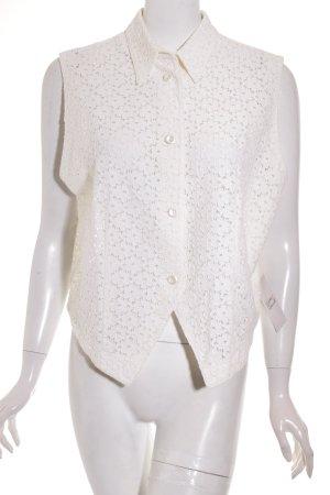 Pier Angelini Gilet crema motivo floreale elegante