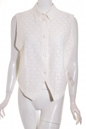 Pier Angelini Anzugweste creme florales Muster Elegant