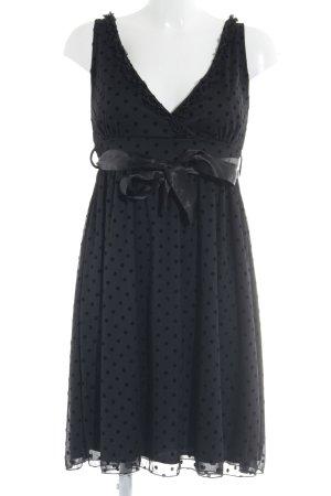 Pier one A-Linien Kleid dunkelblau-schwarz Punktemuster Elegant