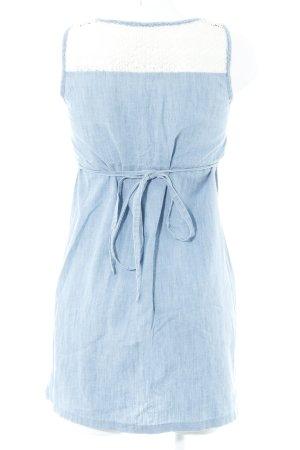 Pier one A-Linien Kleid himmelblau-weiß Blumenmuster Romantik-Look