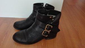 Pier One Echtleder Stiefel Gr. 36 boots chelsea Stiefeletten schwarz