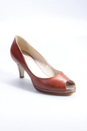 Pier One Peeptoe-Pumps rotbraun