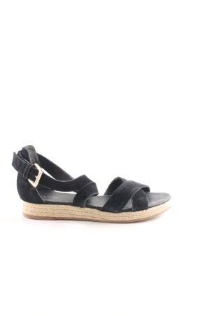 Pier one Riemchen-Sandalen schwarz-beige Street-Fashion-Look