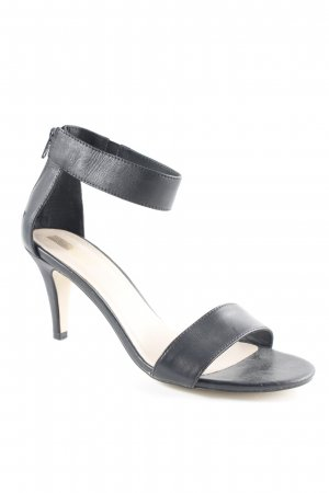 Pier one Sandalo con cinturino nero-crema elegante