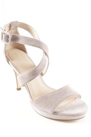 Pier one Strapped High-Heeled Sandals light grey elegant