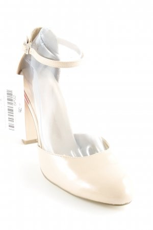 Pier one Riemchenpumps nude Lack-Optik