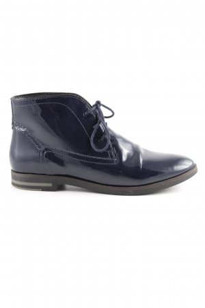 Pier one Lace-up Booties dark blue leather-look