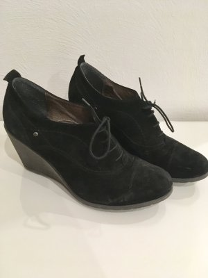 Pier one Schuhe Keilabsatz Stiefel Stiefeletten 39 schwarz Wildleder