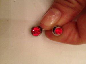 Piercing Bauchnabelpiercing rot Silber