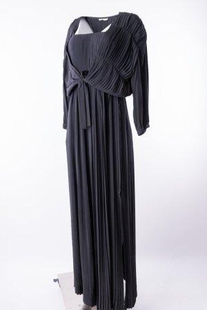 PIERRE BALMAIN - Bodenlanges Abendkleid plissiert mit Jäckchen Schwarz