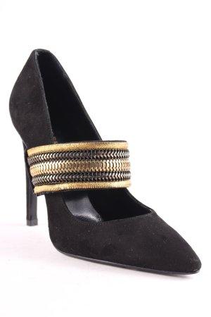 Pierre Balmain Tacones altos negro-color oro estilo extravagante