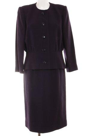 Pierre Balmain Kostüm dunkelviolett-lila Business-Look
