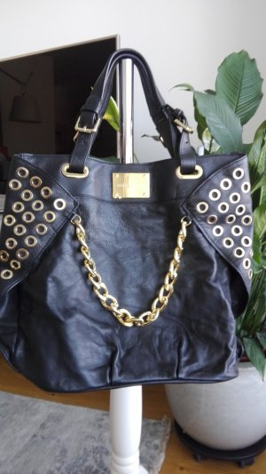 Pierre Balmain Shopper black-gold-colored leather
