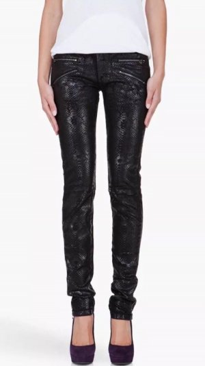 Pierre Balmain Skinny Jeans Animal leggings schwarz Luxus Item