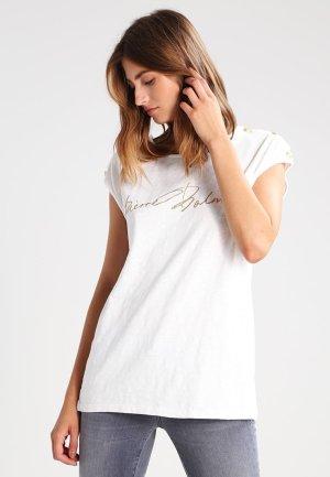 Balmain Camisa blanco-color oro