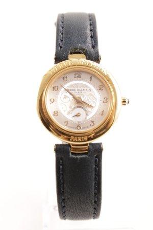 Pierre Balmain Uhr mit Lederarmband schwarz Casual-Look