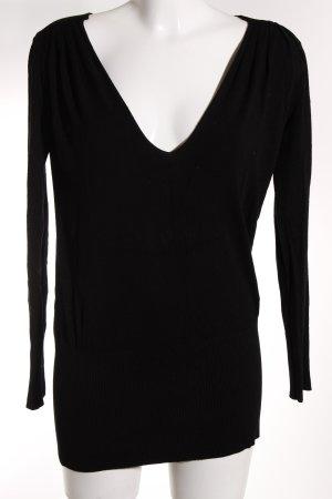 Pierre Balmain V-Ausschnitt-Pullover schwarz Casual-Look