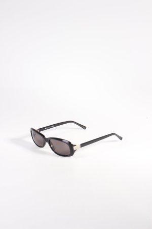 Pierre Cardin eckige Sonnenbrille schwarz-silberfarben schlichter Stil