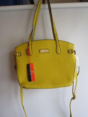 Pierre Cardin Carry Bag gold orange leather