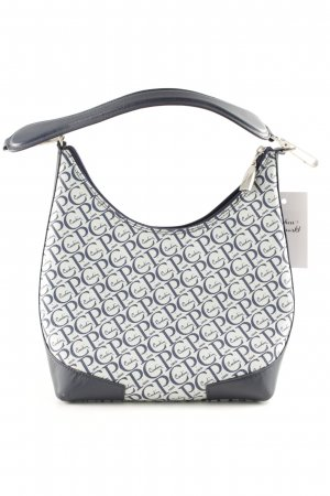 Pierre Cardin Carry Bag white-dark blue graphic pattern business style