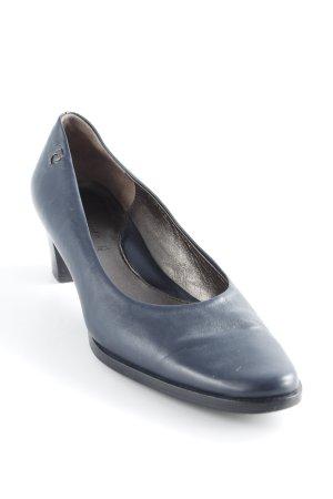 Pierre Cardin Talons hauts bleu foncé-noir style décontracté