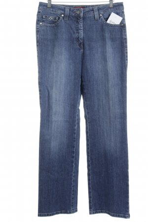 Pierre Cardin High Waist Jeans blau Romantik-Look
