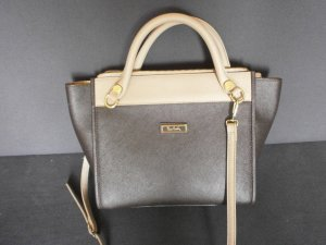 Pierre Cardin Borsa a tracolla marrone scuro-color cammello Pelle