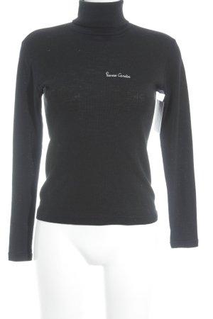 Pierre Cardin Rollkragenpullover schwarz klassischer Stil