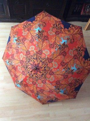 Pierre Cardin Schirm orange dunkelblau tolles Muster