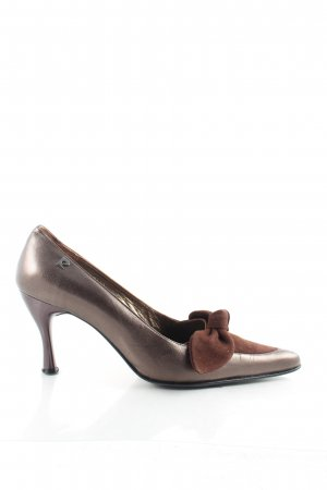 Pierre Cardin Spitz-Pumps dunkelbraun Metallic-Optik