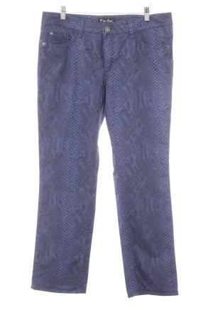 Pierre Cardin Stoffhose dunkelblau-blauviolett Animalmuster Street-Fashion-Look