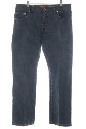 Pierre Cardin Straight-Leg Jeans dunkelgrau-blau schlichter Stil
