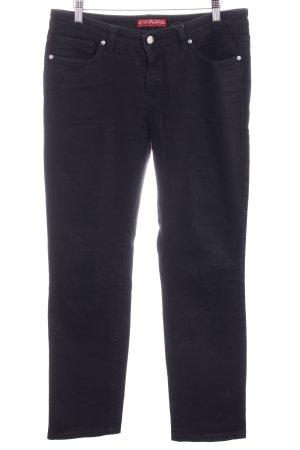 Pierre Cardin Straight-Leg Jeans schwarz Webmuster Casual-Look