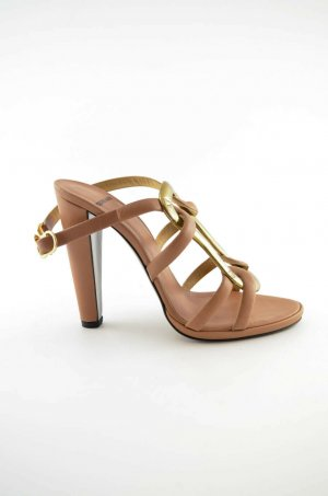 Pierre Hardy Strapped pumps beige-gold-colored leather