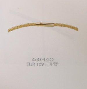 Pierre Lang 3 mm dünne Strickkette Collier gold HM 42 cm #3583H