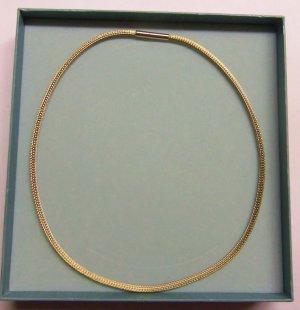 Pierre Lang 4 mm dünne Strickkette Collier gold HM 44 cm #3583H