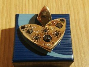 Pierre Lang Anhänger, vergoldet mit Steinen, Herzform;