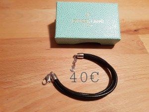 Pierre Lang Bracelet en cuir noir