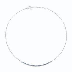 Pierre Lang Collar estilo collier color plata-azul celeste