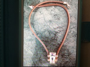 Pierre Lang Collier Necklace multicolored leather