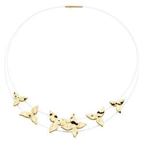 Pierre Lang Collar estilo collier blanco-color oro