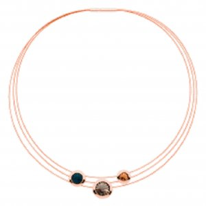"Pierre Lang Halskette Collier ""Galaxy Star"" in Rosegold Neu OVP"
